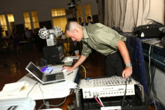 dj at controls