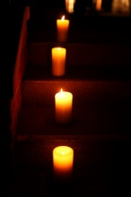 votives up stairs