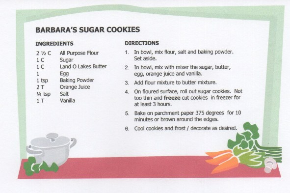 Barbaras Sugar Cookie Recipe USE