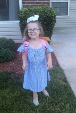 2018 Ayva first day of school
