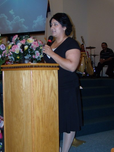 funeral service angie speaking