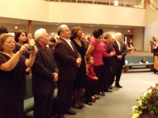 funeral service front row