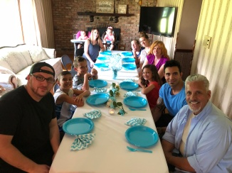 fathers day family at table
