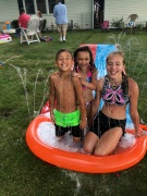 fourth of july kids slip and slide