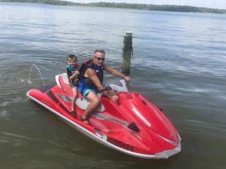 labor day hollis on jet ski