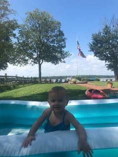 labor day kizzy in pool