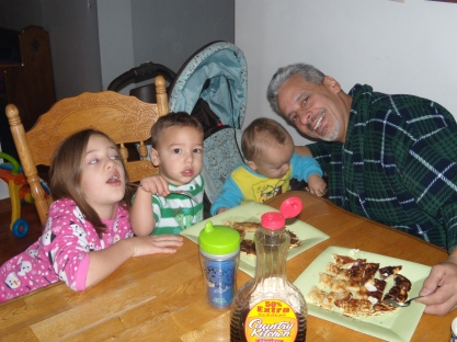 Papa at breakfast brooke brodie ethan