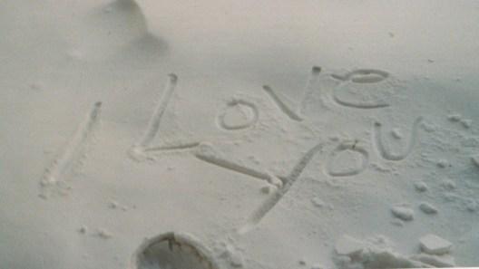 sand msg i love you