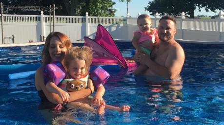 swimming cumbees in brads pool