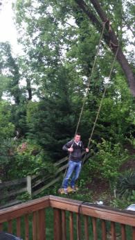 Thrill Seeker Jake on Swing