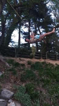 Thrill seeker Cova on Swing