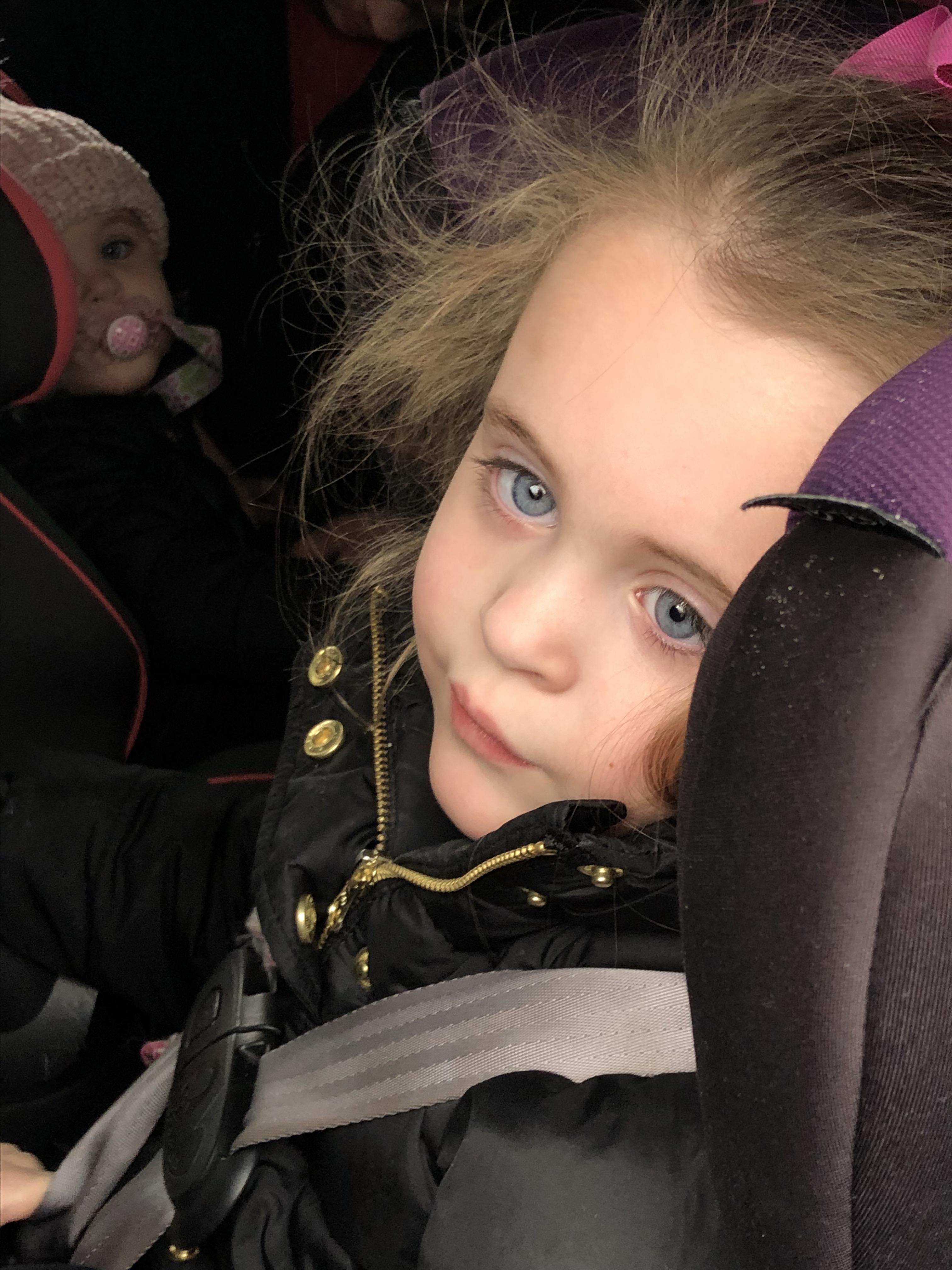 Ayva in car seat