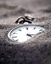clock in the sand.