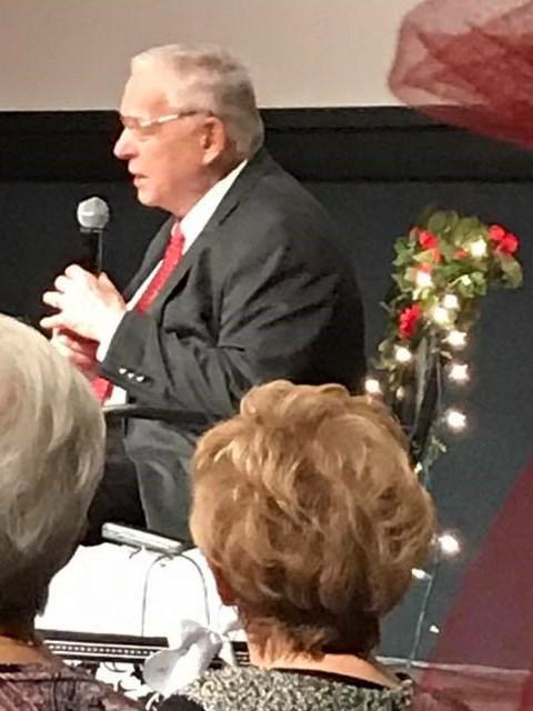 Pastor preaching at wedding