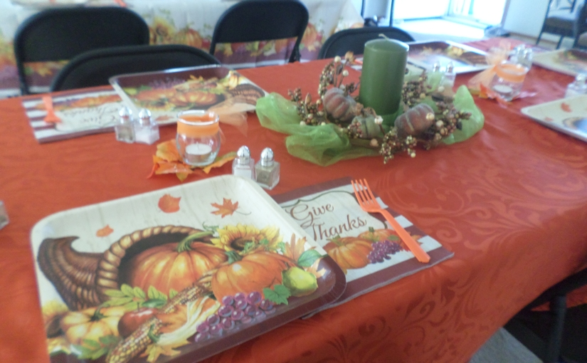 THE TABLE OF THANKSGIVING  By Lori A Alicea