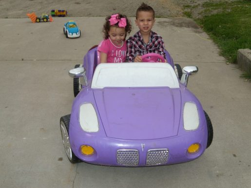 2013 brodie and brystol on purple car