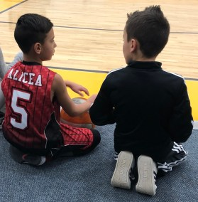 friends brodie and ethan at basketball