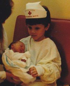 1 candace newborn jake holding her