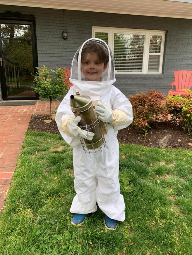 bees 2019 england easter 2 hollis in bee outfit