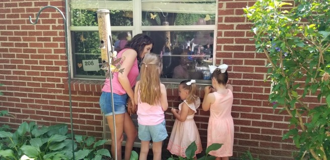 window - candace , gracie and girls