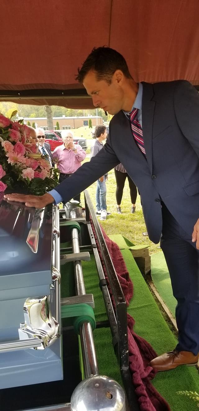 a graveside burial jake casket