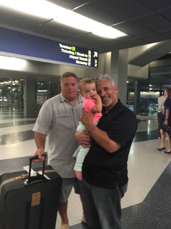 airport David and Rosalee at airport