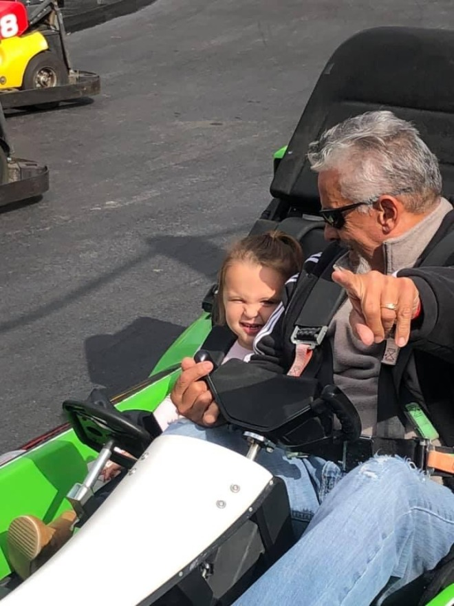 playing riding go-cart