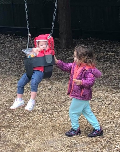 USE OLDER TEACH YOUNGER 2019 england rosalee kizzy mae on swing