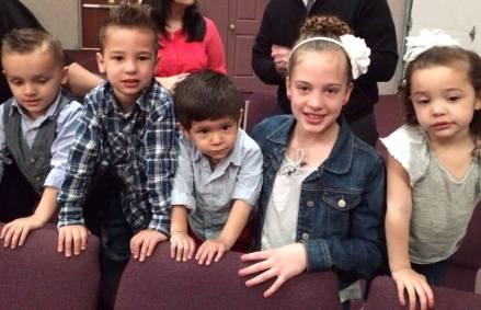 CHURCH cousins at church'