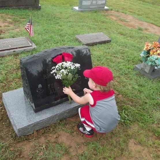 david at graveside