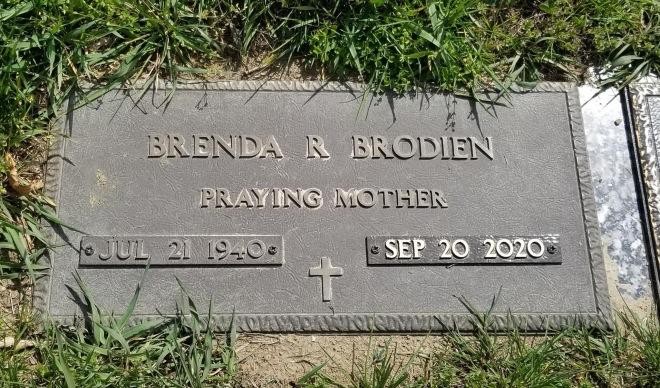 mom's headstone