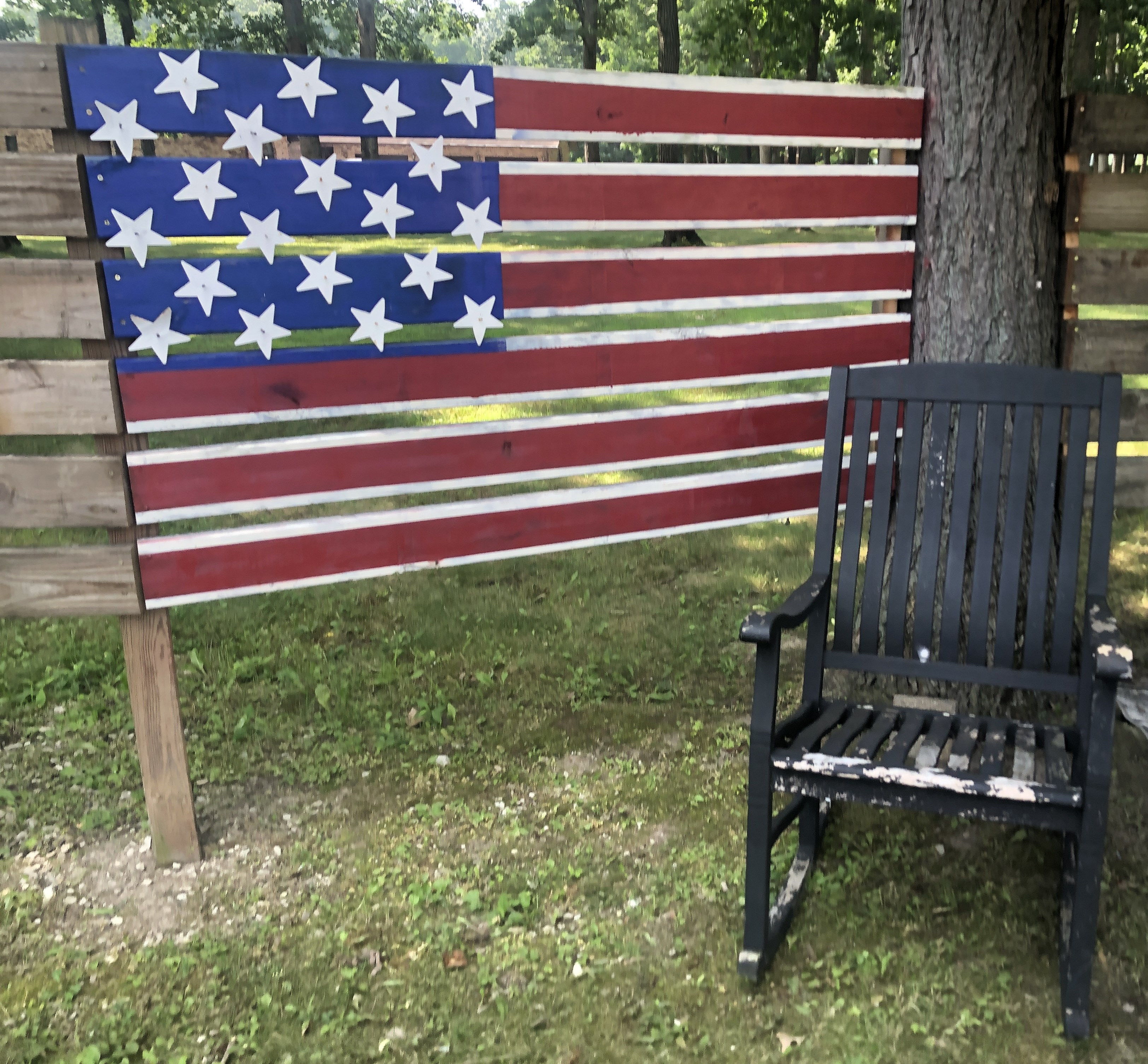 JOE MILITARY flag empty chair