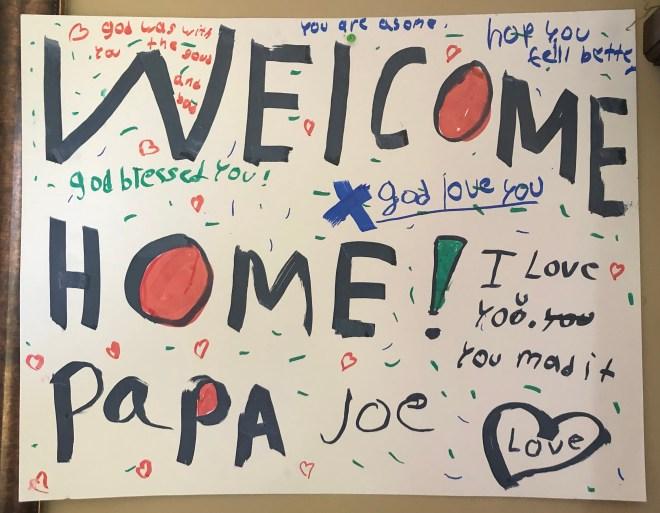 JOE MILITARY Welcome Home Sign